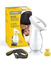 Medela Silicone Breast Milk Collector, Milk Saver with Spill-Resistant Stopper, Suction Base and Lanyard, 3.4 oz/100 mL Clear 1 Count (Pack of 1)