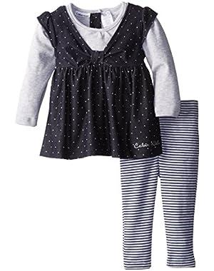 Baby Girls' Denim Tunic with Striped Legging