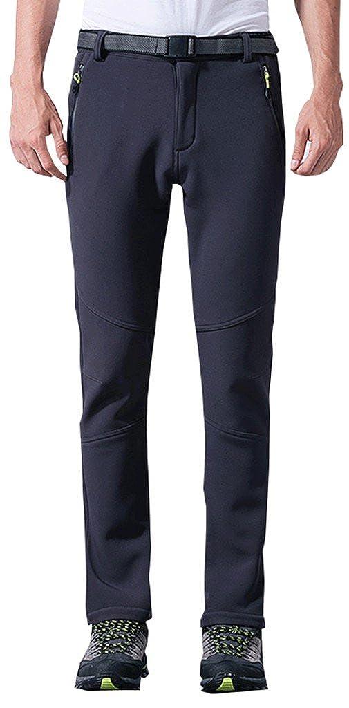 Geval Hombres Deportes Senderismo Escalada Pantalones Softshell Polar Pantalones de Esquí