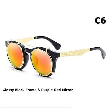 ZHOUYF Gafas de Sol Clip De Moda En Estilo Steampunk Gafas ...