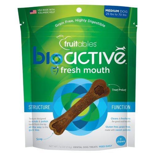 Fruitables Bioactive Treats (Fresh Mouth Dental (Small), Pack of 2 (30 count))