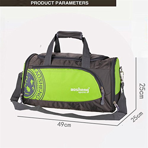 Sport Bag Men And Women Fitness Shoulder Gym Bag Training FeYoga Duffel Bag Black by Breadaye (Image #2)