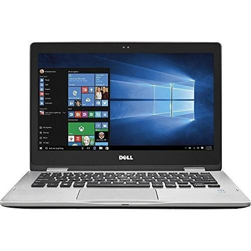 "2017 Premium Dell Inspiron 7000 13.3"" 2-in-1 Full HD Touchscreen Convertible Laptop, 7th Intel Core i5-7200u, 8GB DDR4 RAM, 256GB SSD, Backlit Keyboard, Bluetooth, HDMI, 802.11AC, Windows 10-Silver"