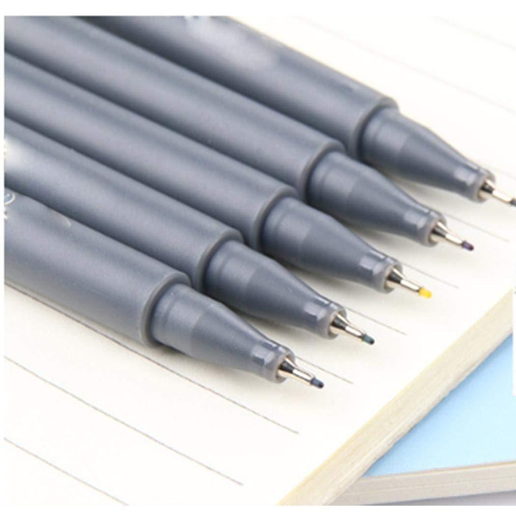 Pikins 10 Unids//set 10 Colores 0.38MM Liner fino Rotuladores de colores para dibujar bocetos Subrayadores