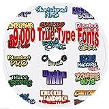 9,000 True Type Fonts on CD: Including Bonus Software