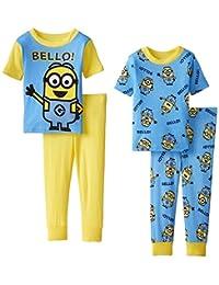Despicable Me Little Boys' Team Minions Four-Piece Pajama Set