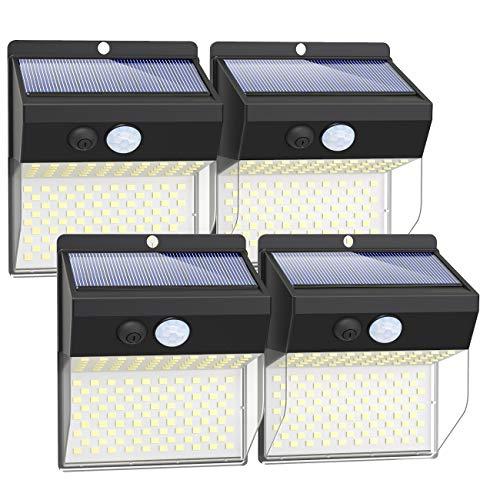 [2 Pack] 102LED Zonne-verlichting buiten,(2020 nieuw geüpgraded) Litogo 2200 mAh Zonne-beveiligingsverlichting Buiten…