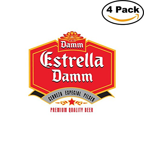 estrella-damm-beer-logo-alcohol-4-vinyl-stickers-decal-bumper-window-bar-wall-4x4