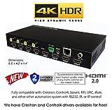 4x4 HDR HDMI 4K MINI MATRIX SWITCHER HDCP2.2 HDTV ROUTING SELECTOR SPDIF AUDIO CRESTRON CONTROL4 SAVANT HOME AUTOMATION (4x4 HDMI MINI HDR)