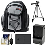 Precision Design PD-MBP ILC Digital Camera Mini Sling Backpack with BLS-1/BLS-5 Battery & Charger + Tripod + Kit for Olympus OM-D E-M10 II, PEN E-PL5, E-PL6, E-PM2 Cameras