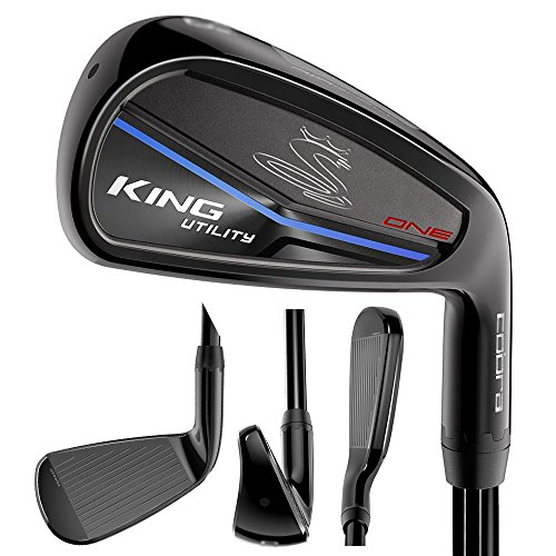 Single Graphite - Cobra 2018 King Utility One Length Iron Black 2i3i (Men's, Right Hand, Graphite, Reg Flex, 18.0-21.0 Deg)