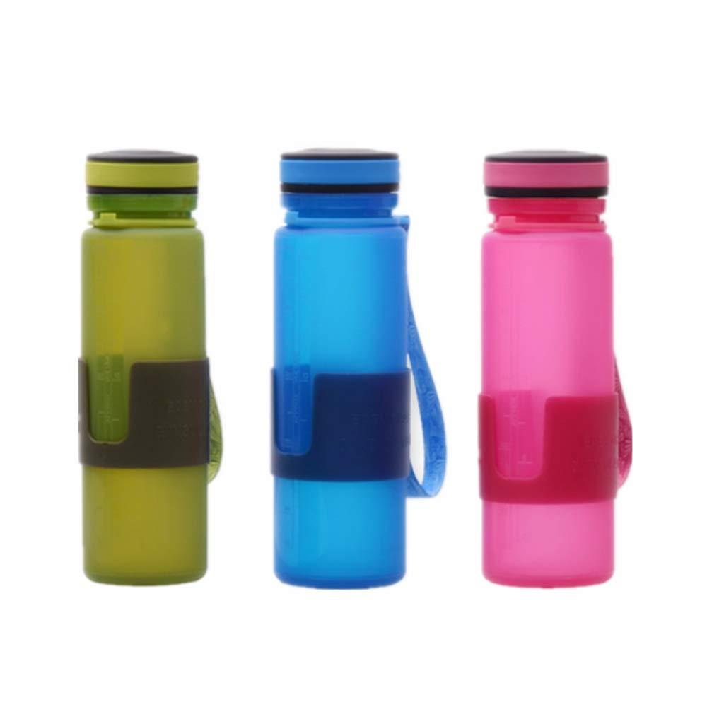 ボトル, fodableボトル、ふた付きの多機能17.0オンス折りたたみマグ飲料コーヒーウォーターキャンプ旅行屋外ピクニック (色 : Blue+red+green)   B07QHG2WYG