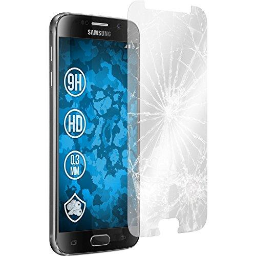 2 x Samsung Galaxy S6 Glas-Folie klar PhoneNatic Panzerglas für Galaxy S6