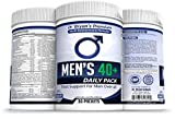 Men's Over 40 Daily Pack Vitamins Minerals, 42 Fruits and Vegetables, Digestive Enzymes, Spirulina, Wheat Grass, Fish Oil, Probiotics, Green Tea, Echinacea, Fiber, Kelp, Resveratrol, Plus!