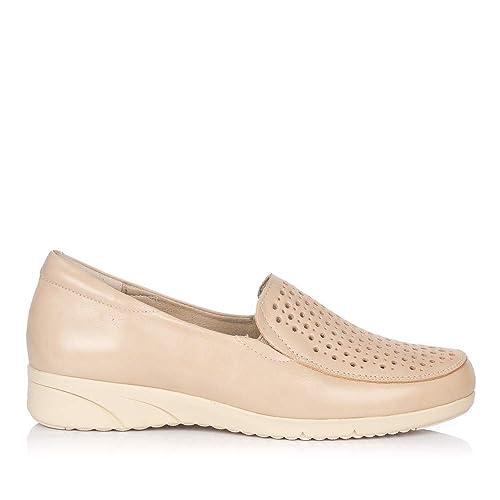 PITILLOS 2912 Zapato Mocasin Piel Mujer: Amazon.es: Zapatos y complementos