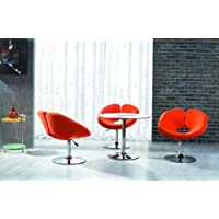 International Design USA Pluto Adjustable Leisure Chair, Orange
