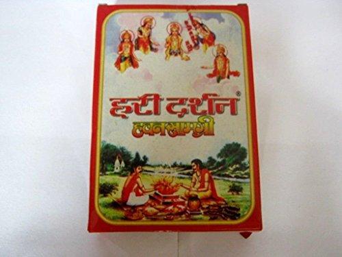 Packs of 100 grams Haridarshan Havan Samagri + Haridarshan Camphor +Haridarshan Kumkum for - Diwali Navratri House Waming Marriages Holy Festivals Hindu Puja Prayer by Artcollectibles India