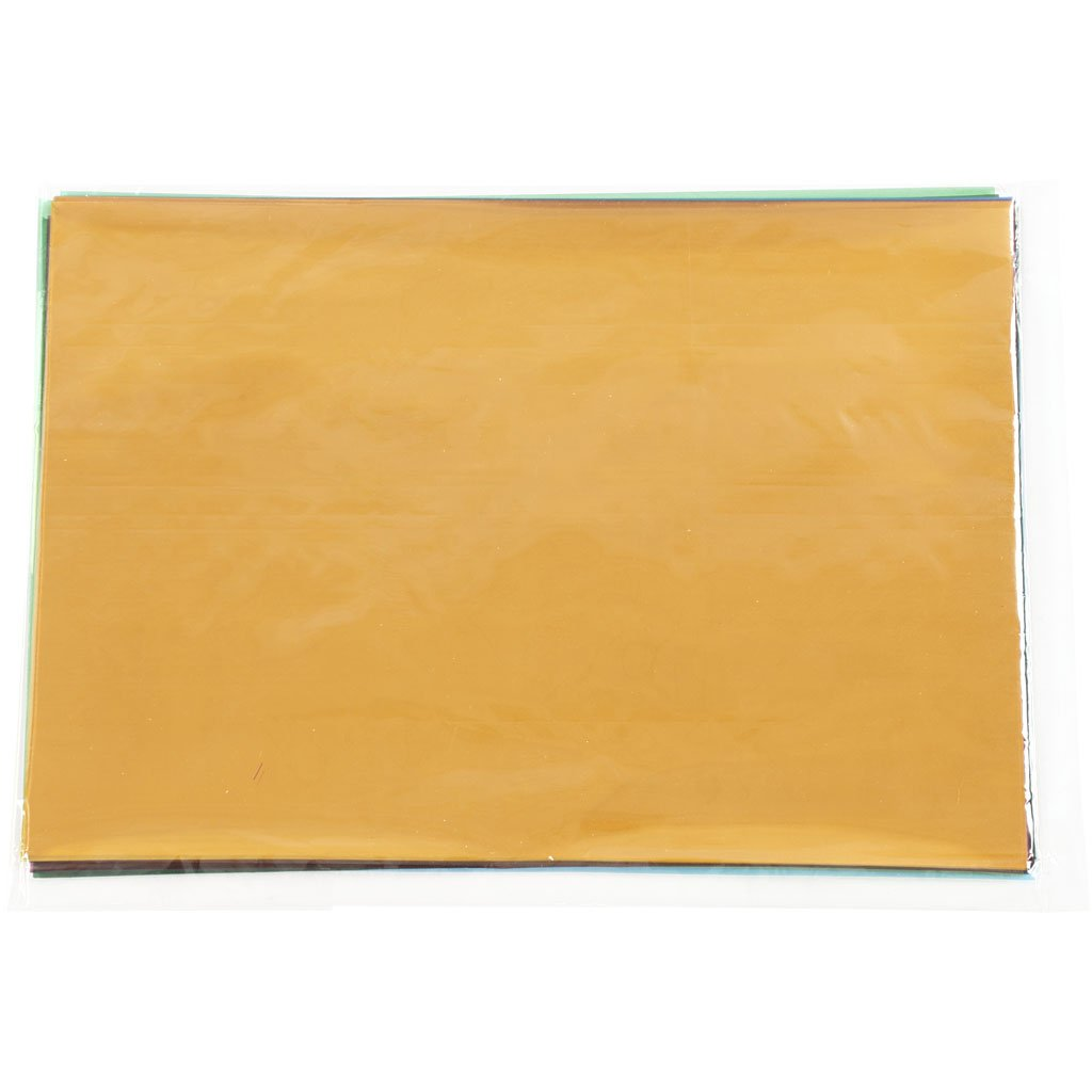 100 Blatt Cellophan A4 21x30cm 25 Micro cm sortiert Farben
