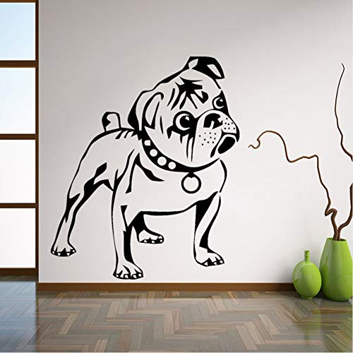 ponana Dog Wall Stickers Puppy Animal Kids Vinyl Decal Cute Home Decoration Removable Wall Decals Childrens Room Art Mural 56X66Cm