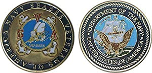 Navy Seabee Veteran of America Can Do! Challenge Coin by Westies Warehouse from NSVA