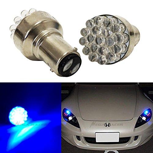 - Mega Racer (Pack of 2) 1157 Ultra Blue LED 19 Chip BAY15D P21/5W (Front Parking Light Bulb) 1157A 2057 2057A 2357A 2040