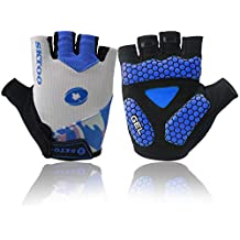 Good Specialized Adults/Youth Knit Half-Finger Gloves Comfort For Motorcycle Riding Bicycle Cycling Outdoor Sports Camping Driver Biker Bodybuilder Fisher Muscle Training Hike Jogging