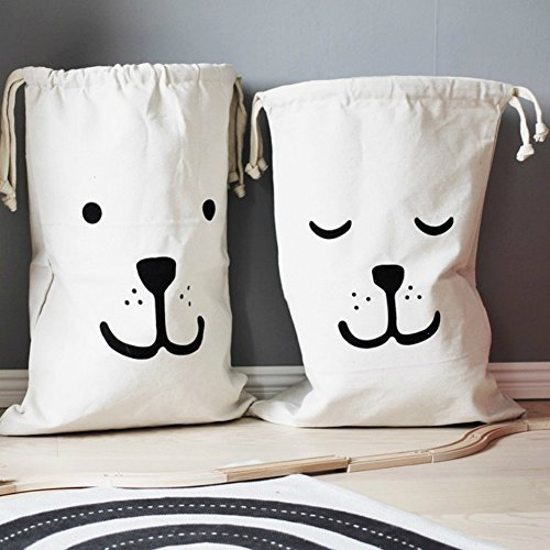 Home Décor Canvas Storage Bag Basket Organizers for Kids Toys, Baby Clothing, Children Books, Gift Baskets (2 Pcs) (Dressers And Chests Target compare prices)
