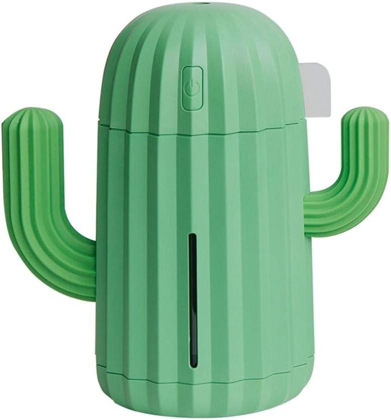 JKZX 340ML Mini Humidifier Cactus Shape USB Ultrasonic Air