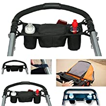 Itian Baby Infant Stroller Safe Console Organizer bag Tray Pram Hanging Cup Holder