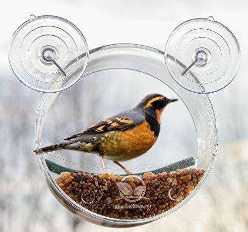 Logo Watch Round (Round Window Bird Feeder: Watch Wild Birds Up Close, Great Gift for Bird Lovers & Fun Summer Activity for Kids)