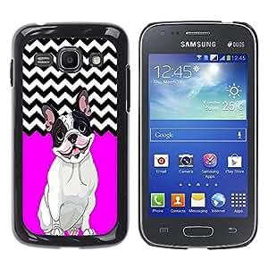 - FRENCH BULLDOG Chevron - - Fashion Dream Catcher Design Hard Plastic Protective Case Cover FOR Samsung Galaxy Ace 3 Retro Candy