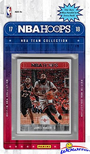 fan products of Houston Rockets 2017/18 Panini Hoops NBA Basketball EXCLUSIVE Factory Sealed Limited Edition 10 Card Team Set with James Harden,Chris Paul, Eric Holiday & Many More! Shipped in Bubble Mailer! WOWZZER!