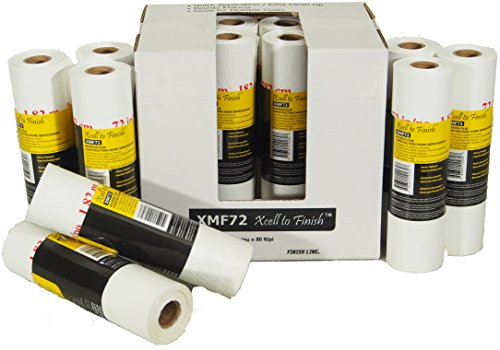 Reli. Pre-Folded Masking Film, 12 Rolls Wholesale Case (90 Foot Length x 72 Inch Width) (Paint Masking Film)