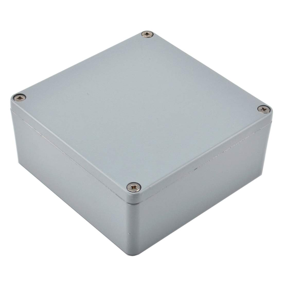 BestTong Aluminum Alloy Metal Small Dustproof Waterproof IP66 Junction Box Universal Extruded Industrial Structure Electrical DIY Project Enclosure Grey 6 x 6 x 2.8 Inches 160mmx160mmx70mm