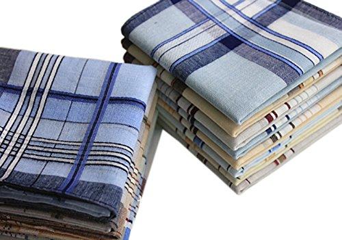 erchiefs Classic Cotton Handkerchiefs Hanky 20PCS (Monogrammed Wedding Hankie)