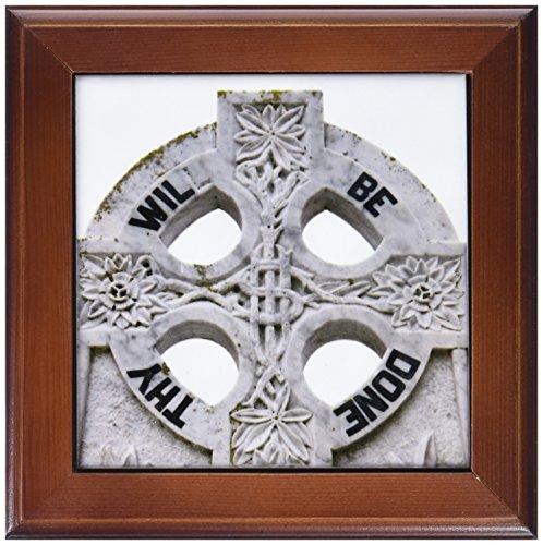 3dRose ft_81965_1 Ireland, County Mayo, Murrisk, Celtic Cross EU15 BJA0083 Jaynes Gallery Framed Tile, 8 by 8-Inch (Cross Framed Tile)