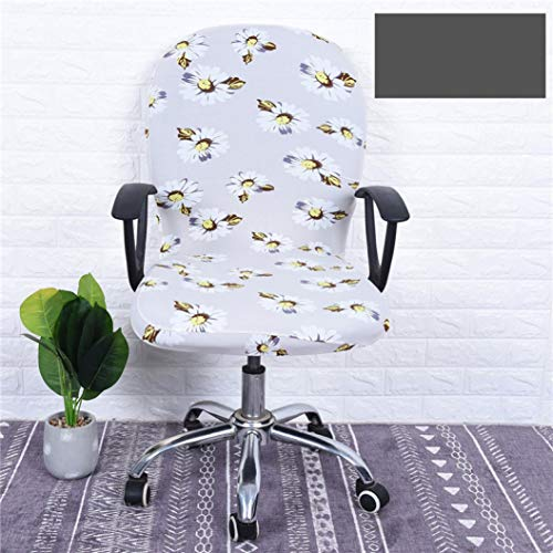 - WEEFORT Office Chair Covers Flower Printed Pattern Spandex Universal Armchair Computer Seat Case Removable Elastic Slipcover