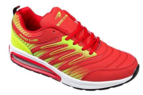 gibra - Zapatillas de running de Material Sintético para hombre Rojo - rojo