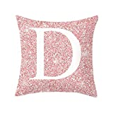Letter Pillow Case, Letter Cushions Cover English Alphabet Cushion Decorative Pillows Throw Pillow Cushion 18x18 Inch