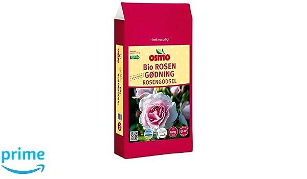Osmo bio rosas abono 6-2-8 + 2% Mg, saco de 5 kg Fertilizante orgánico de liberación lenta con algas marinas para rosas sanas y fuertes: Amazon.es: Jardín