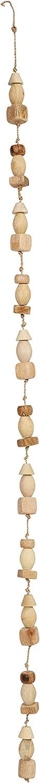 Creative Co-op 72 L Mango Wood Bead Garland Brown