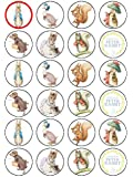 24 x Peter Rabbit Edible Wafer Paper Cup Cake Toppers