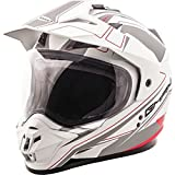 Matte White/Black/Red Sz XXL GMAX GM11D Expedition Dual Sport Helmet