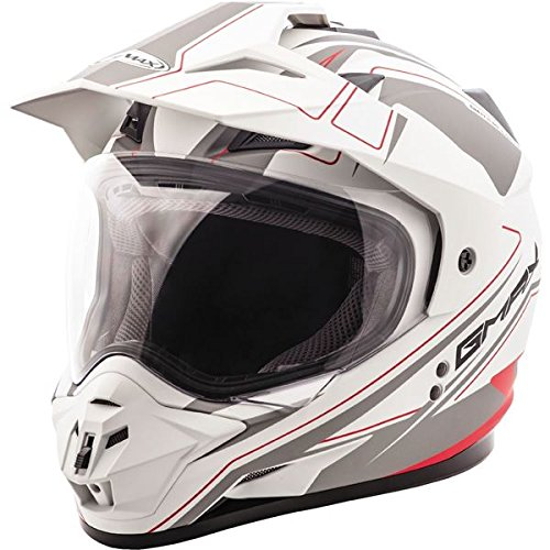 Matte White/Black/Red Sz XXL GMAX GM11D Expedition Dual Sport Helmet