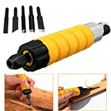 Generic Drillpro Woodworking Carving Chisel Carving Machine Tool with 5 Carving Blades One piece