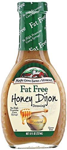 Maple Grove Farms of Vermont Fat Free Dressings, 8oz. (Pack of 3) (Honey (Dijon Vinaigrette)
