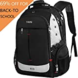 Large Laptop Backpack,Extra Large Travel Laptop Backpacks with USB Charging Port for Men&Women,TSA Friendly Water Resistant Big Business College School Computer Bookbag Fit 17-Inch Notebook,Black