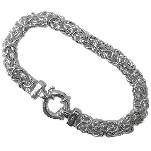 Byzantine Bracelet 14.5mm Thick Flat Oval .925 Italian Sterling Silver. 7, 7.5, 8 Inches (7 Inches) Byzantine Italian