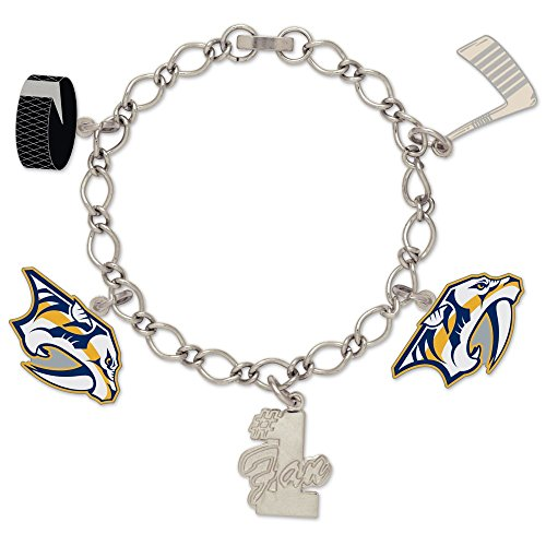 WinCraft NHL Nashville Predators 38428012 Bracelet with Charms Clamshell