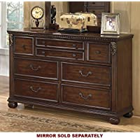 Ashley Furniture Signature Design - Leahlyn Dresser - 7 Drawer - Warm Brown